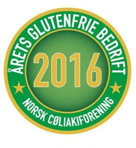 Årets glutenfrie bedrift 2016 emblem