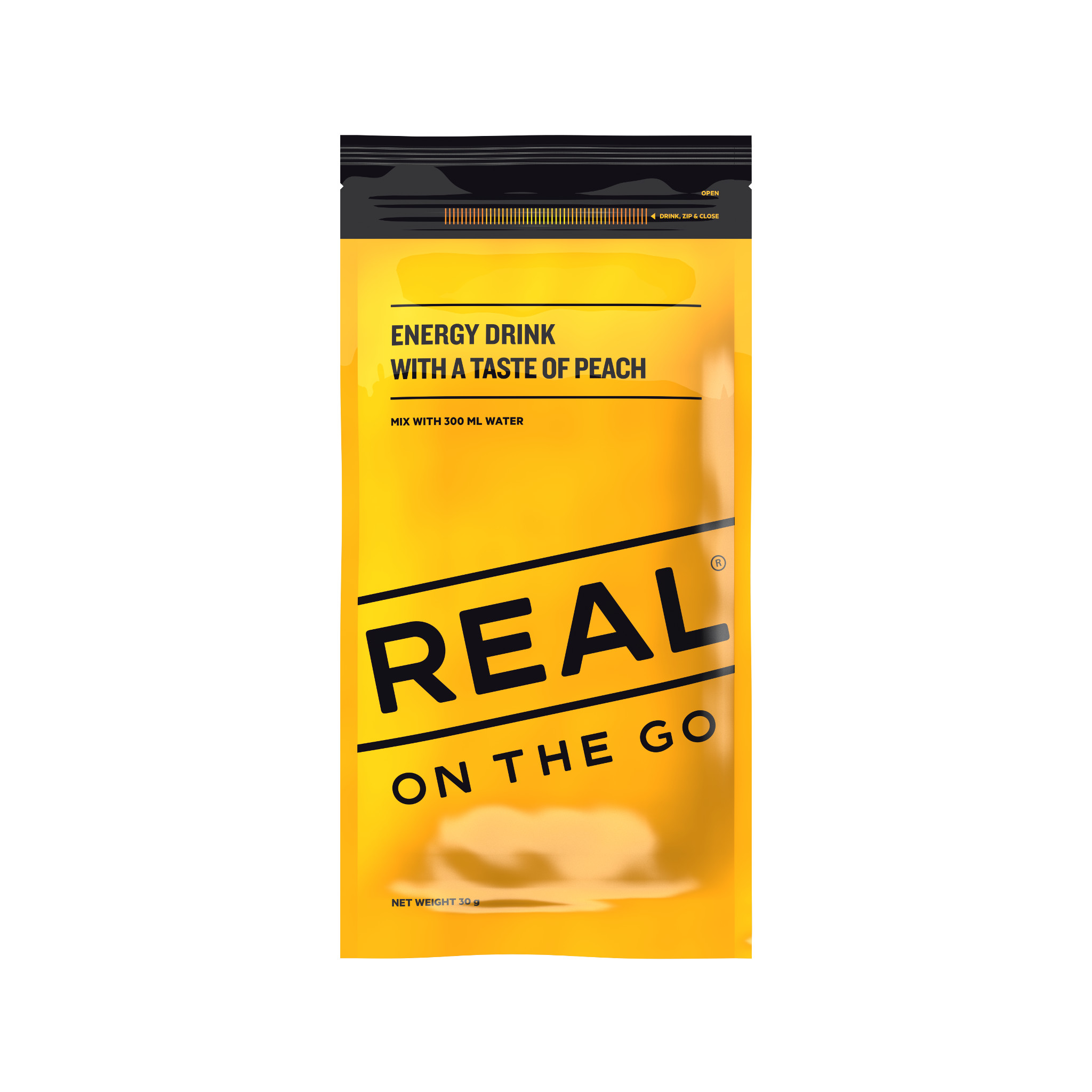 Real On the Go Peach Energy Drink