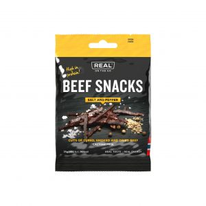 Real On the Go Beef Snacks - Salt and Pepper