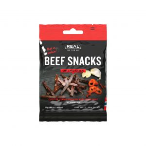 Real On the Go Beef Snacks - Chili and Garlic