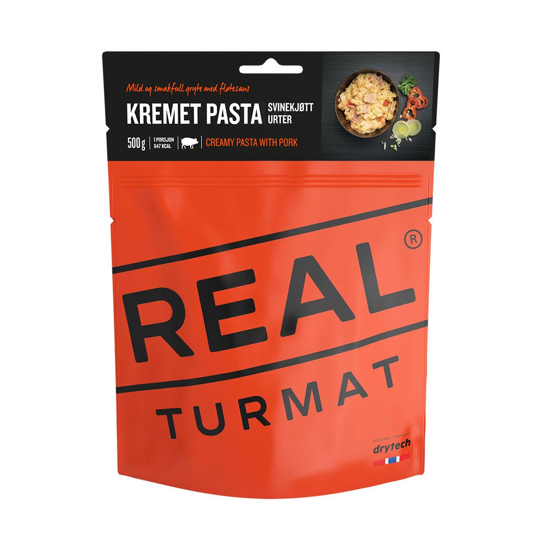 Real Turmat Des pâtes crémeux avec du porc aux herbes