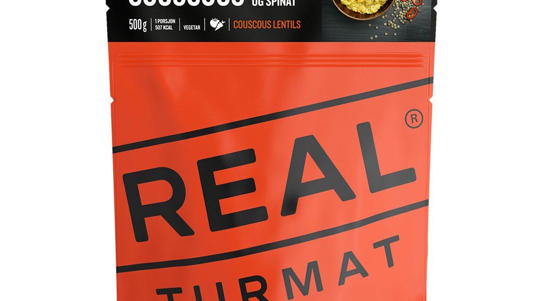 Real Turmat Couscous aux lentilles et aux épinards