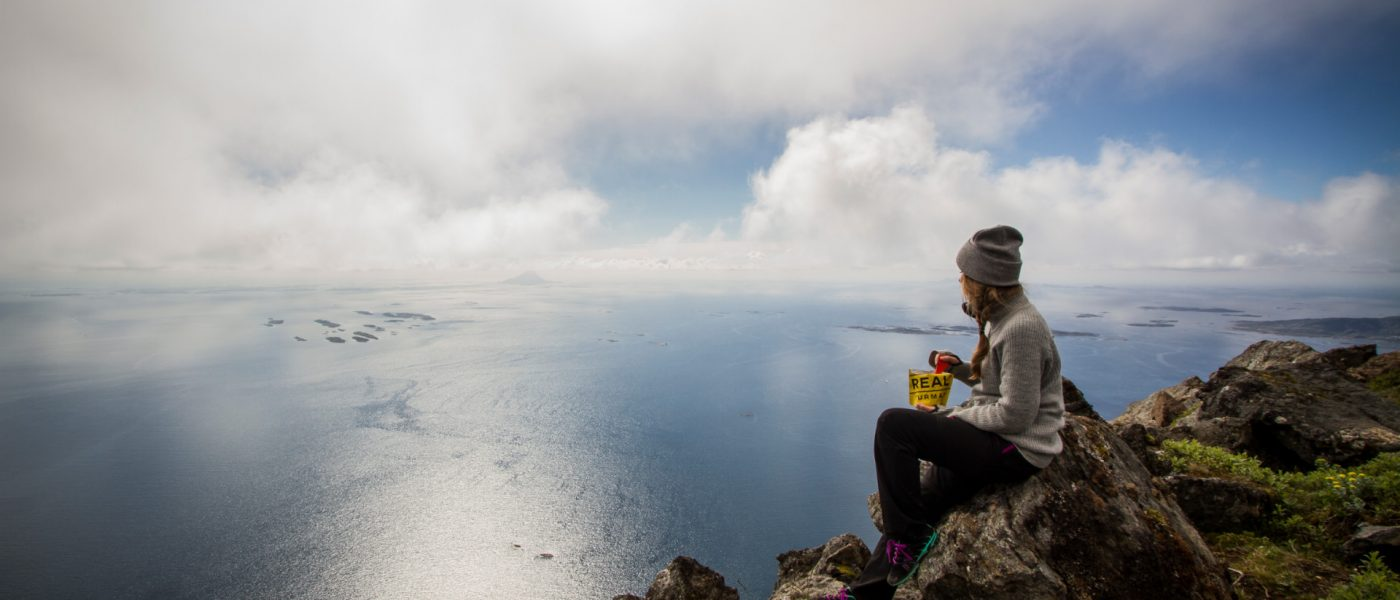 Lunch with a view. Foto: Rolv-Erik Berge