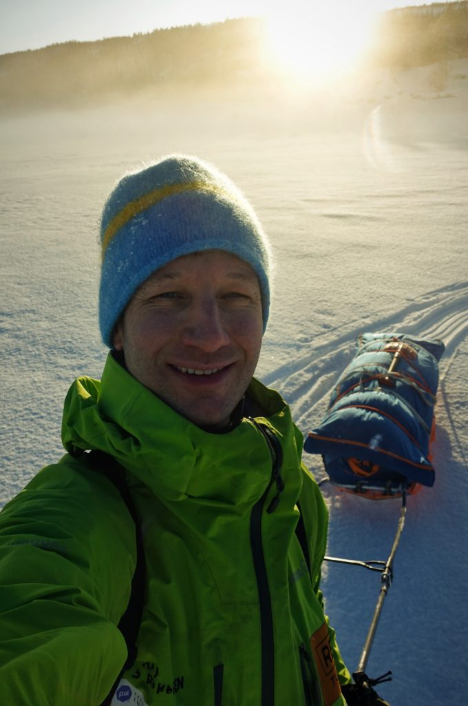 Fredrik Karlstad med solnedgang